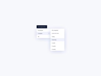Multilevel Dropdown UI Design