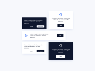 Cookie Banners UI Design