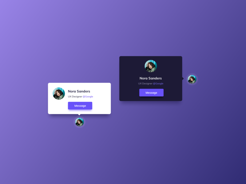 Profile Cards UI Design
