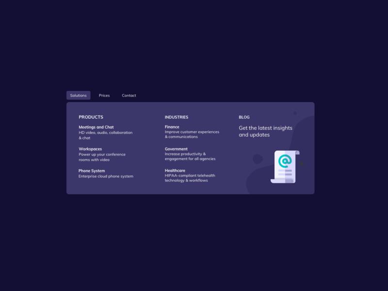 Mega Menu UI Design dark theme dark ui menu design mega menu menu ui menu ui kit ui practice daily ui dailyui ui pattern ux design ui design ildiesign ux ui