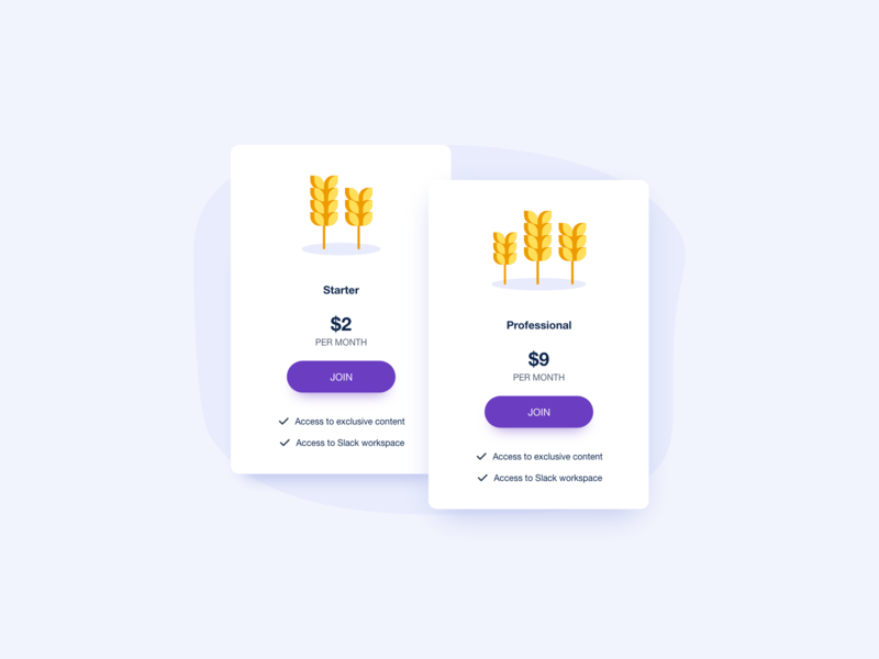 Day 1089 Pricing Cards UI Design