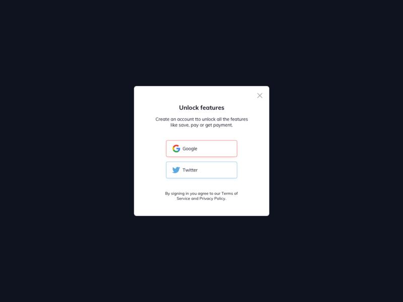 Sign In UI Design ui pattern ux design ui design ildiesign authenticate subscribe log in sign up pop up ui pop up modal design modal ui modal card ux ui