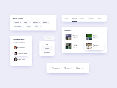 UI Components Design ui design daily navbar navigation ui kits menu ui ui components dropdown tags ui kit design ui kit ui component