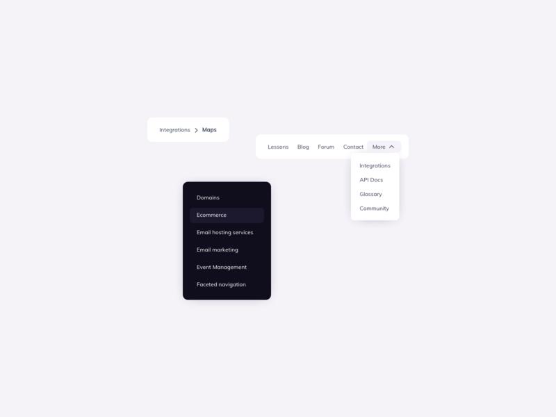 Menu UI Design ui pattern ux design ui design ux ui menu design ildiesign menu component ui components menui ui design menu ui menu