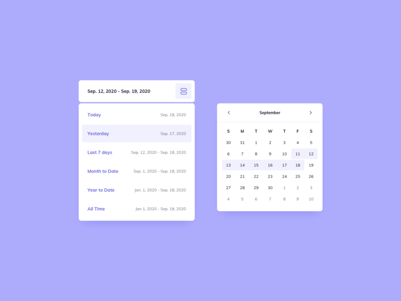 Day 1185 Date Picker UI Design