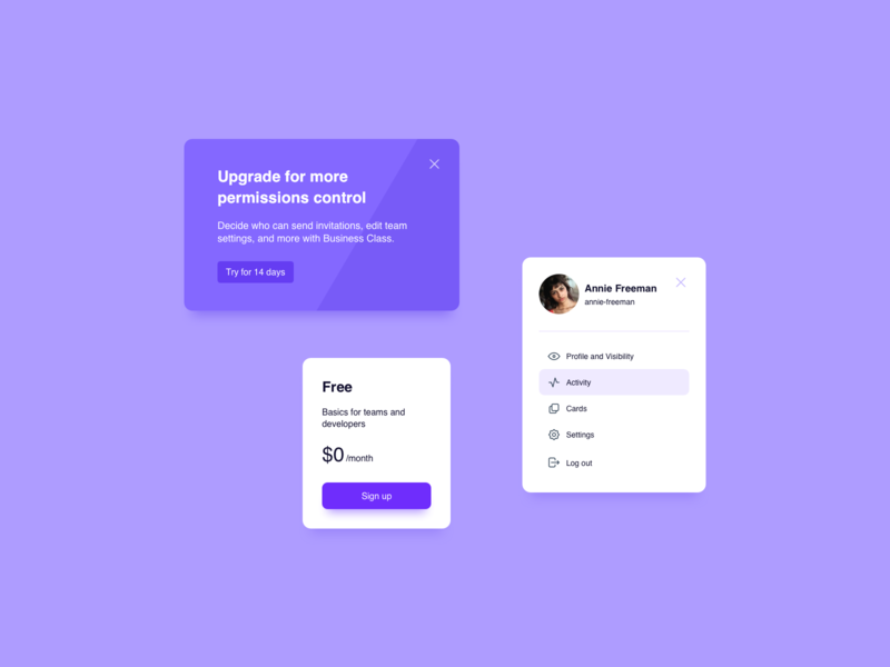 Cards UI Design card design card ui profile card profile pricing price card cards ux design ui design ux ui