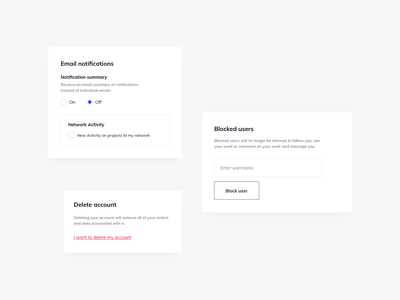 Account Settings UI Components ui design daily ildiesign cards design cards ui ui components design ui kit account settings settings ui ui components card ui cards