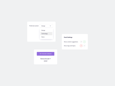 Content Settings UI Design ui kit daily ui uidesign ui design daily ildiesign ui pattern ui practice ui components ux design ui design ux ui