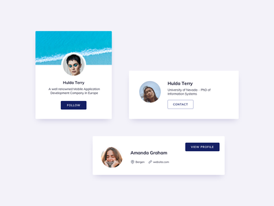Profile Cards UI Design card design card ui profile design profile ui profile card profile ui design daily ildiesign ui practice ui pattern ux design ui design ux ui