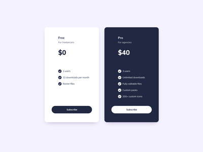 Pricing Cards UI Design ui design daily ildiesign ui component ui practice ui pattern ux design ui design ux ui card design cards ui card pricing card pricing plan pricing page pricing table pricing