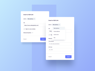 Insert Link Pop Up UI Design ui practice daily ui dailyui ui pattern ux design ux ui ui design daily modal design modal ui pop up design pop up ui modal pop up