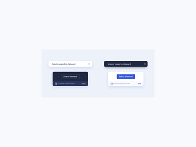 Dark Light UI Element Designs design ui design daily banner design banner ui banner notification toast ux ui ux design ui design dark theme dark mode dark ui