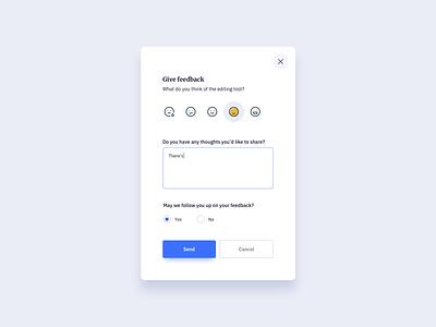 Feedback Modal UI Design ildiesign ui design daily design modal ui design modal ui modal feedback ui design feedback card feedback design feedback ui feedback