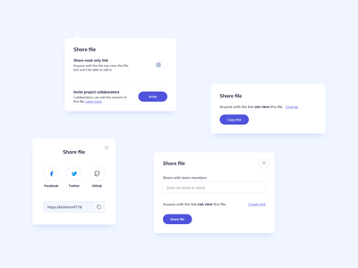Share Cards UI Design card ui design ildiesign ui design daily cards ui cards pop up ui pop up share modal share cardshare file share ui share card design card ui card