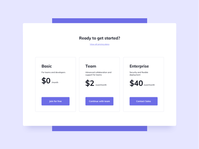 Pricing Section UI Design free ui free ui component free pricing ui component pricing ui component pricing ui design pricing table pricing section ui design daily ux design ui design ux ui