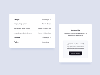 Job Roles Cards UI Design ui design daily job ui component design ui components ux design ui design ux ui jobs jobs list ui design jobs list job roles