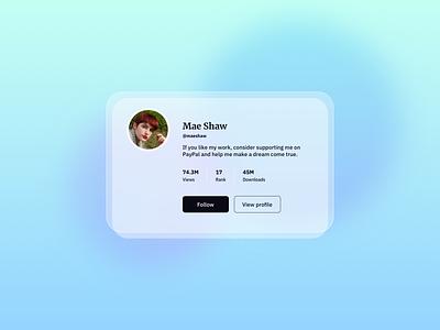 Profile Card UI Design profile ui free ui component ui component gradients ui design daily ildiesign ui practice ui pattern ux design ui design ux ui profile card design profile card ui profile card profile