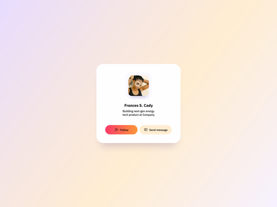 User Profile Card UI Design free ui component ui design daily user profile card profile card user profile ui user profile ui component design ui component ux design ui design ux ui