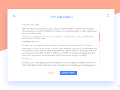 Terms Of Services daily ui terms of service ildiesign ux ui