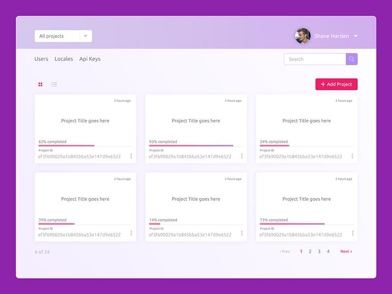 Projects Dashoard Ui Design  ildiko ignacz interface design dashboard projects ildiesign dailyui ux ui