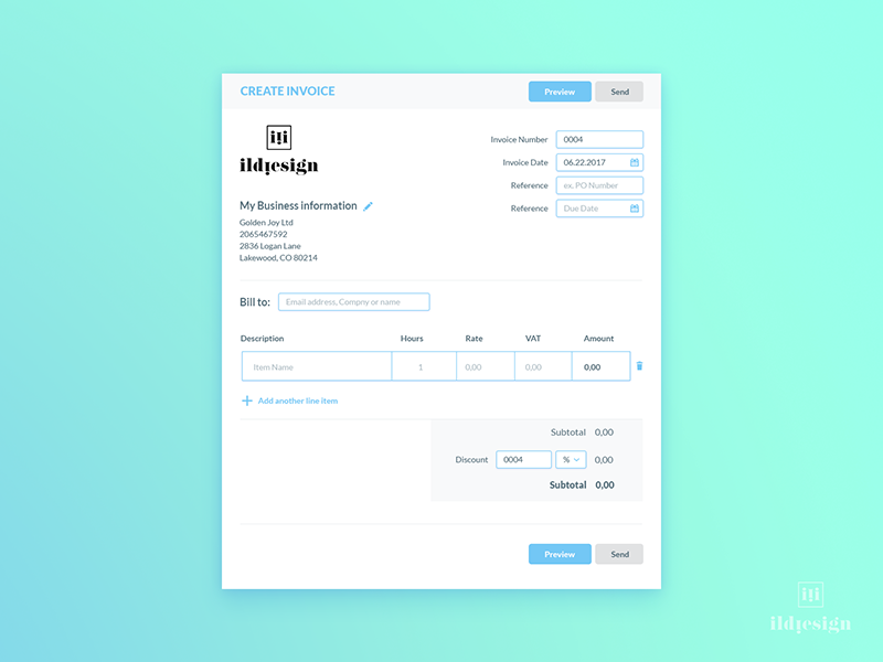 Invoice Generator Ui Design By Ildiko Gaspar On Dribbble