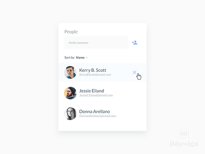 Invite People UI Design ui patterns ildiko ignacz ux design ui design calendar people invite patterns ildiesign ux ui