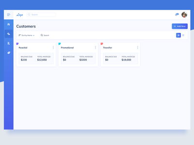 Customers Screen UI Design web app tool ui invoice tool ui pattern ildiko ignacz ux design ui design invoice ildiesign ux ui