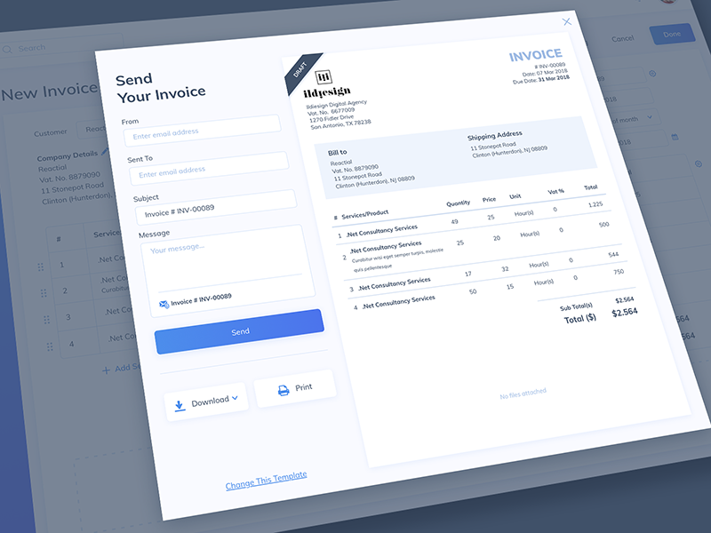 Invoice Generated Ui Design By Ildiko Gaspar On Dribbble