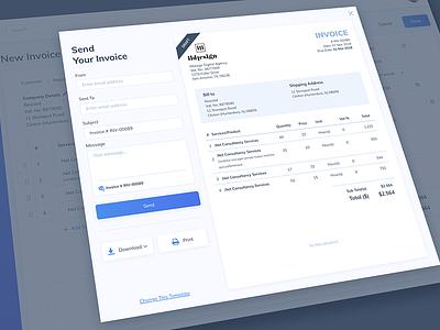 Invoice Generated UI Design web app tool ui invoice tool ui pattern ildiko ignacz ux design ui design invoice ildiesign ux ui