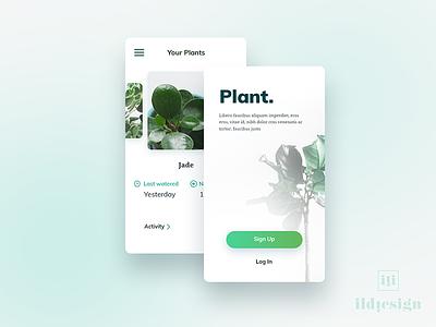 Plant App UI Design plant app ui pattern ildiko ignacz ux design ui design app plant ildiesign ux ui