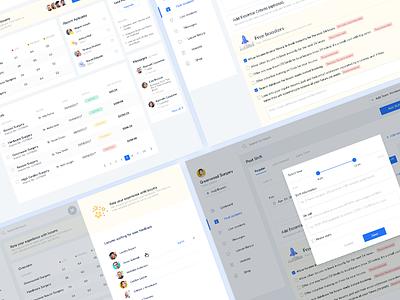 Locum Management System - first screens management system web app tool ui ildiko ignacz ux design ui design feedback dashboard locums ildiesign ux ui