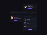 Dark UI Kit Design