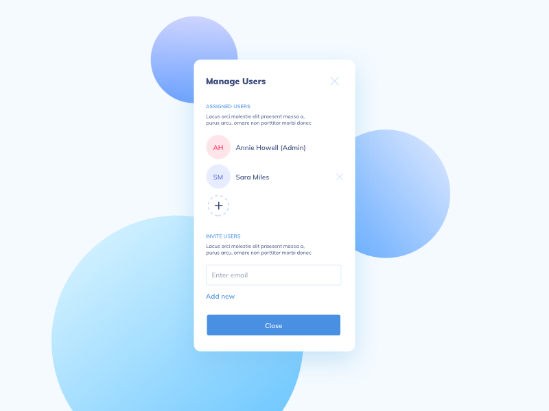 Day 571 manage users ui design
