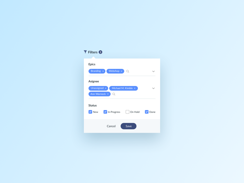 Day 576 filters ui design