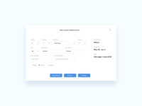 Quick Reservation UI Design