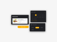Day 594 Restaurant Reservation UI Kit