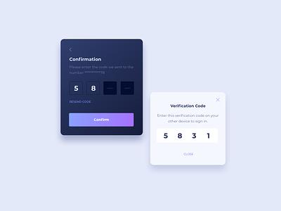 Code Verification UI Design