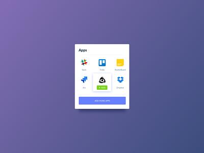 Apps Card UI Design kit ui ui kit ui pattern ildiko ignacz ux design ui design extenstions apps ildiesign ux ui
