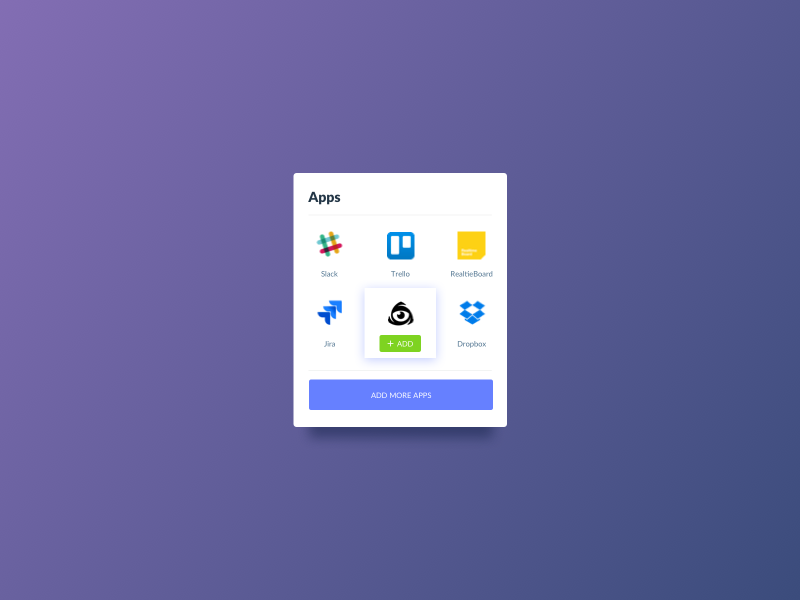Day 610 apps card ui design