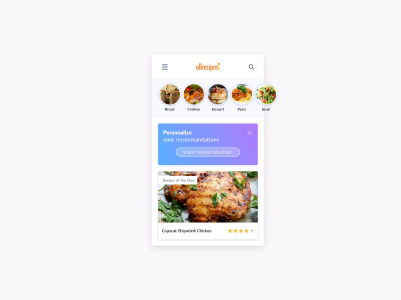 Day 615 recipe app ui design