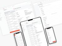 EAM Application UI Design