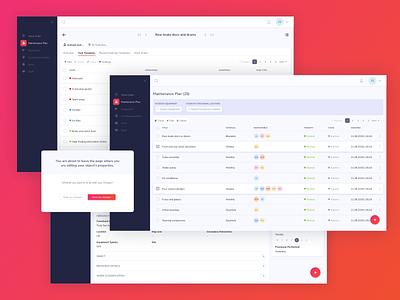 Maintenance Plan UI Design management tool ui pattern ildiko ignacz ux design ui design software tool management ildiesign ux ui
