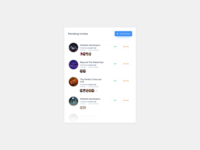 Group List UI Design