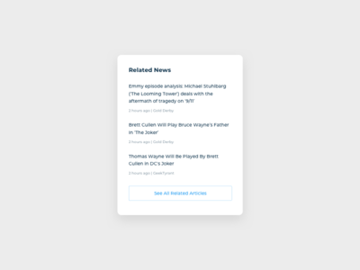 News List UI Design