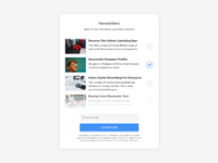Day 667 newsletters list ui design
