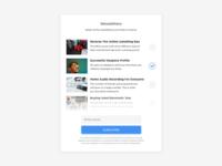 Newsletters List UI Design