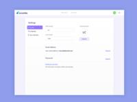 Profile Settings UI Design