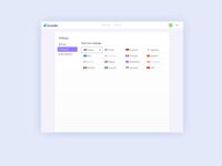 Language Settings UI Design