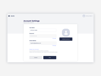 Profile Page UI Design account settings profile settings profile page profile ui pattern ux design ui design ildiesign ux ui