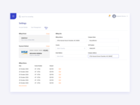 Billing Settings UI Design